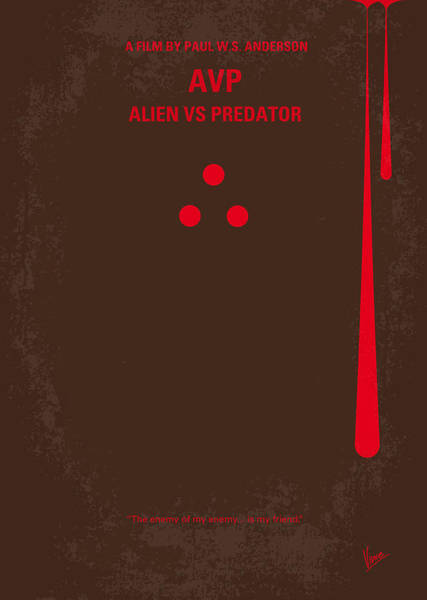 No148 My Avp Minimal Movie Poster Poster