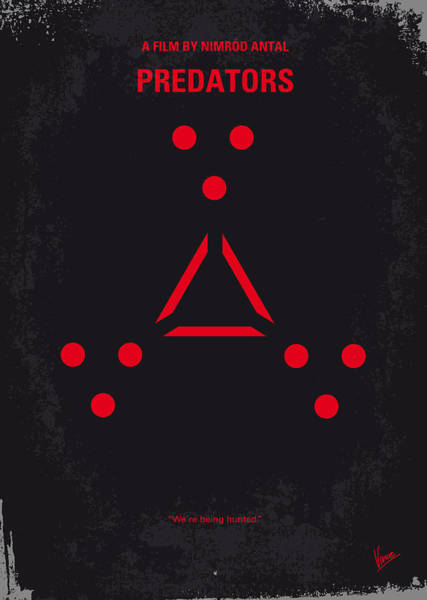 No289 My Predators Minimal Movie Poster Poster