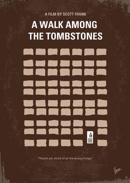 No341 My Walk Among The Tombstones Minimal Movie Poster Poster