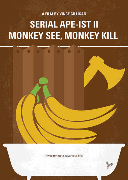 No356 My Serial Ape-ist Minimal Movie Poster Poster