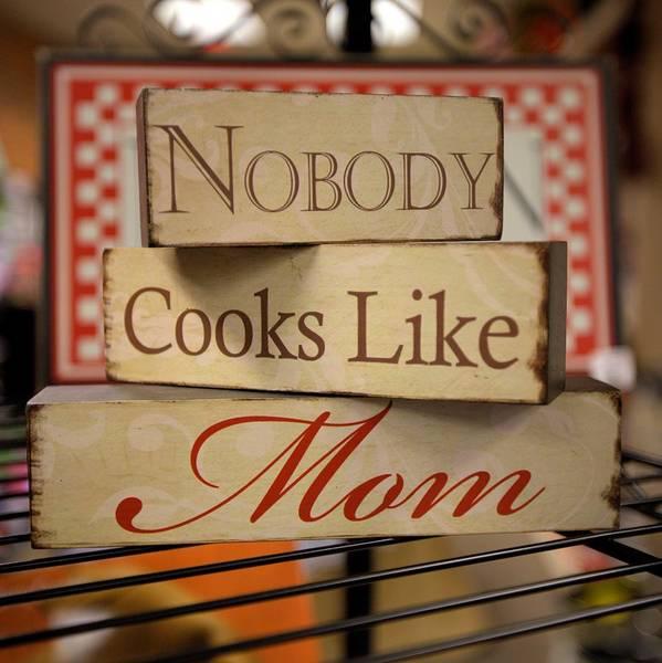 Nobody Cooks Like Mom - Square Poster