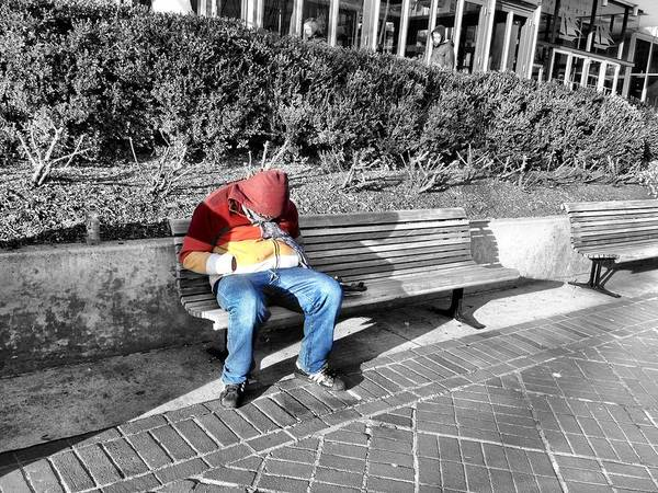 Homeless Man Poster