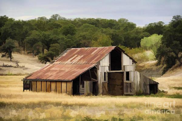 Northern California Barn Poster