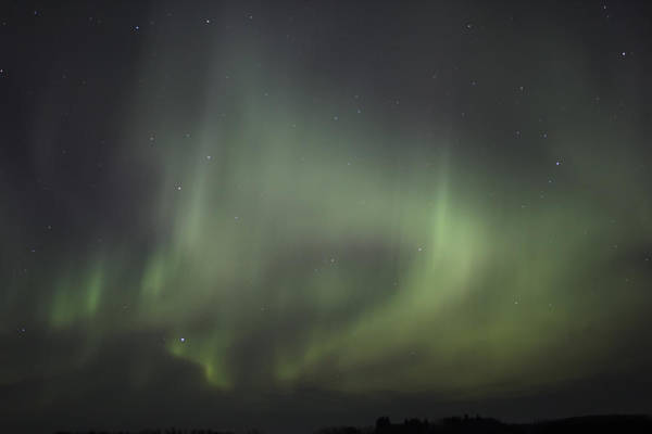 Northern Lights Over Wroxton Poster