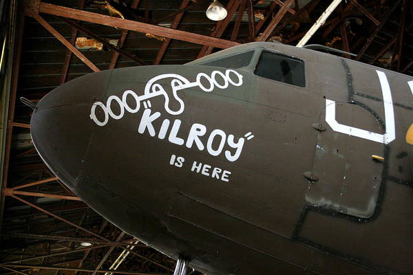 Nose Art Kilroy Was Here Poster