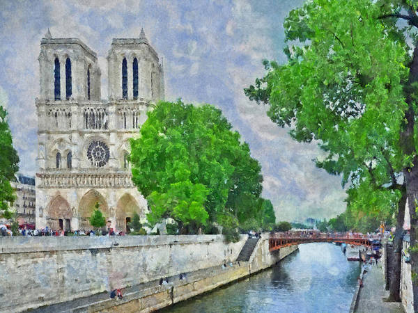 Notre Dame And The River Seine Poster