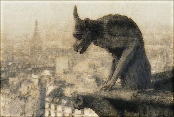 Notre Dame Cathedral Gargoyle Poster