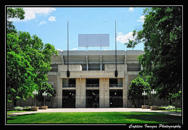 Notre Dame Stadium Poster