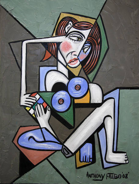 Nude Woman With Rubiks Cube Poster