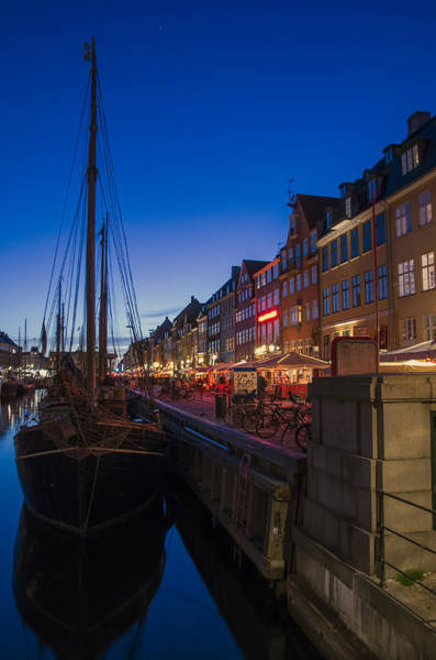 Poster featuring the photograph Nyhavn By Night Part 3 by Ross G Strachan