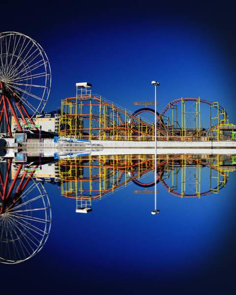 Ocean City Amusement Pier Reflections Poster