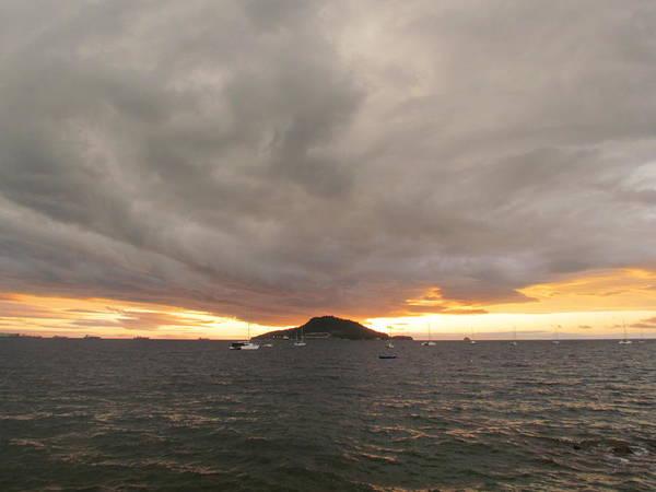 Ocean Cloud Sunrise Poster