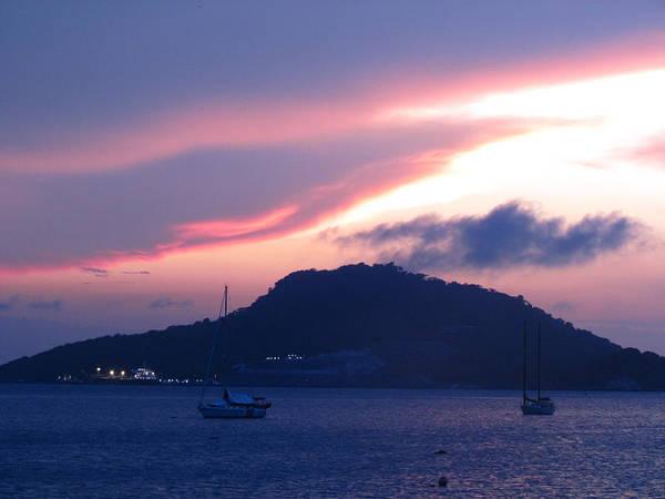 Ocean Island Sunrise Poster