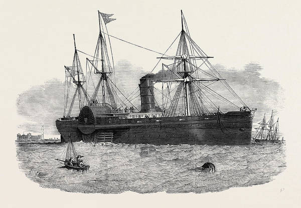 Ocean Steam Navigation The United States Mail Steamship Poster