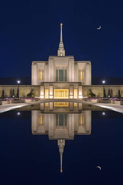 Ogden Temple Reflection Poster