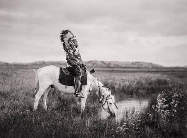 Oglala Indian Man Circa 1905 Poster