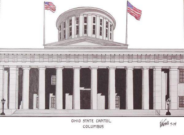Ohio State Capitol Poster