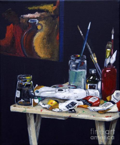 Oils Still Life Poster