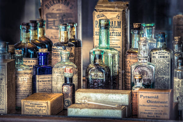 Ointments Tonics And Potions - A 19th Century Apothecary Poster