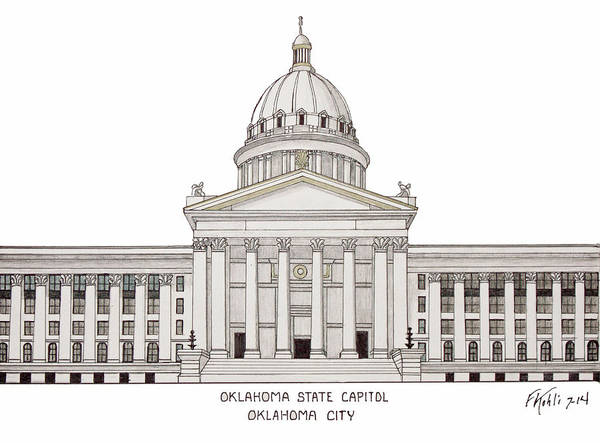Oklahoma State Capitol Poster