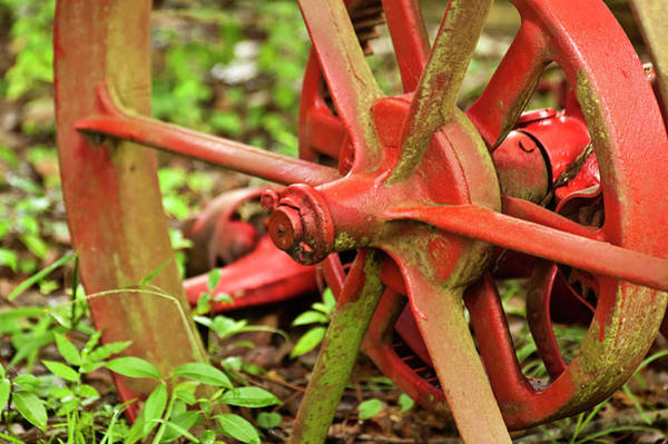 Old Farm Tractor Wheel Poster