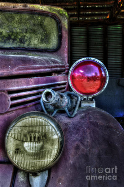 Old Ford Firetruck Poster