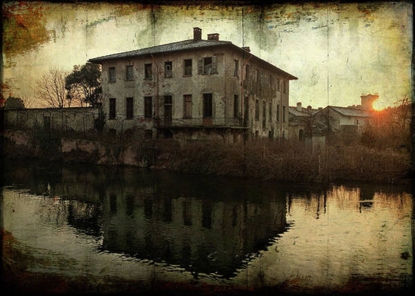 Old House On Canal Poster