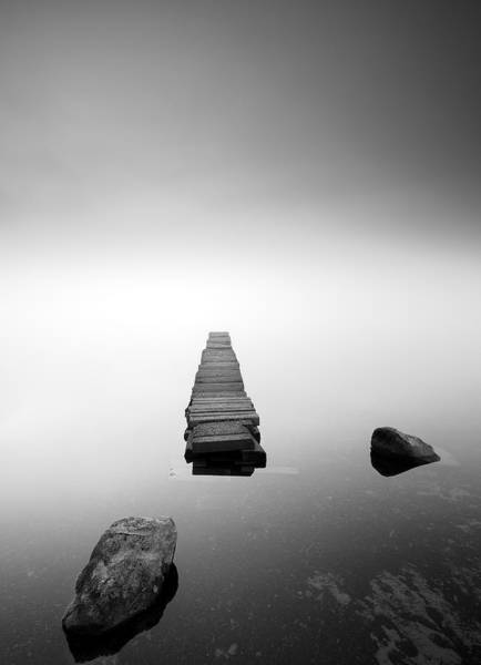 Old Jetty In The Mist Poster