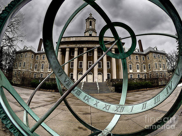 Old Main Through The Armillary Sphere Poster