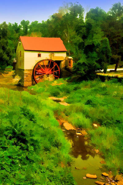 Old Mill In Springtime Poster