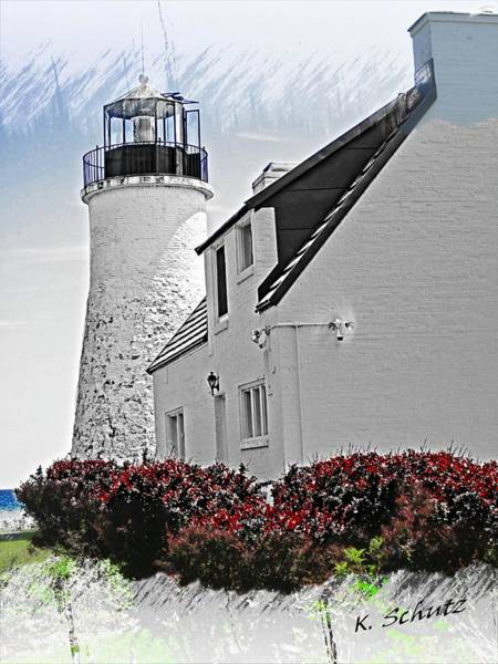 Old Presque Lighthouse Poster