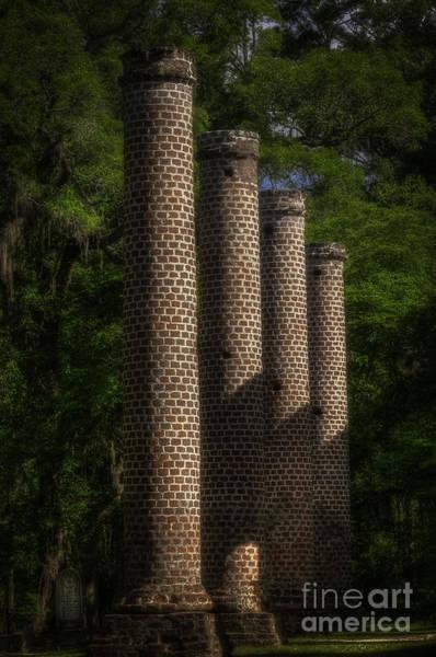 Old Sheldon Church Columns Poster