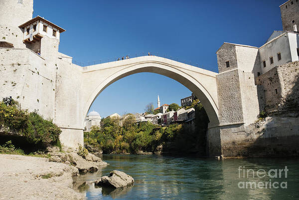 Old Stone Bridge In Mostar Bosnia Poster