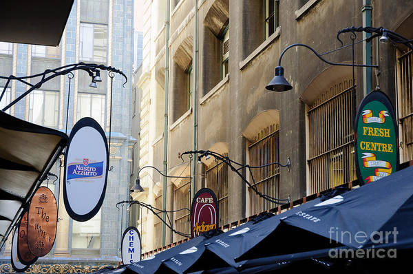 Old-style Signs Above A Melbourne Laneway Poster
