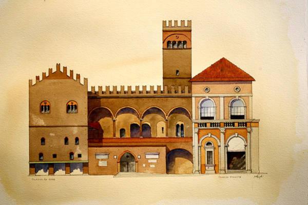 on Piazza Maggiore Poster