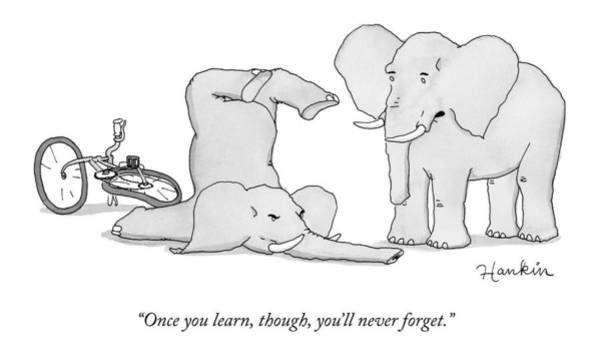 One Elephant Says To Another Elephant Who Poster
