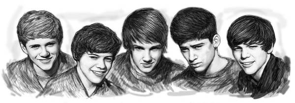 Onr Direction Art Long Drawing Sketch Poster Poster