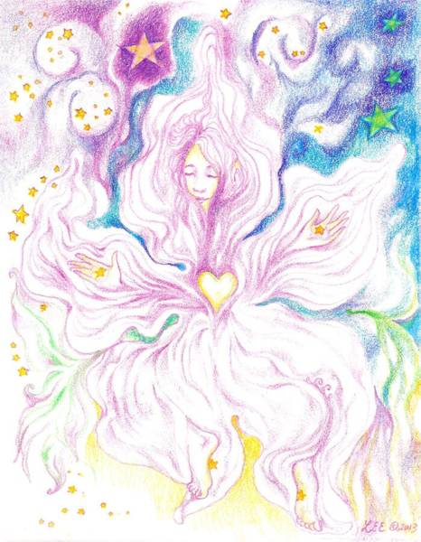 Opening And Blossoming   Dreaming The World Into Being   As She Dances In The Stars Poster