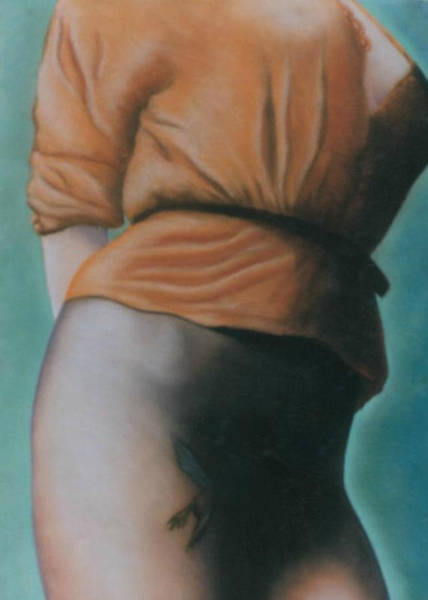 Orange Blouse Poster