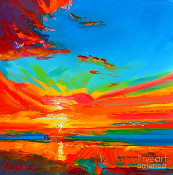 Orange Sunset Landscape Poster