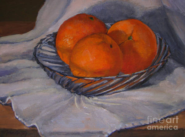 Oranges In A Swirly Bowl Poster