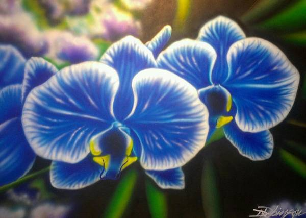 Orchid-strated Blues Poster