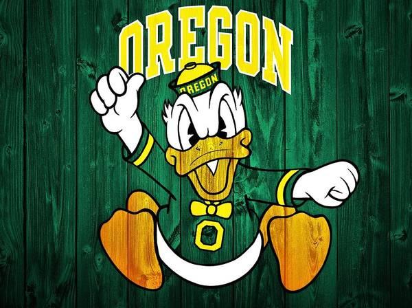 Oregon Ducks Barn Door Poster