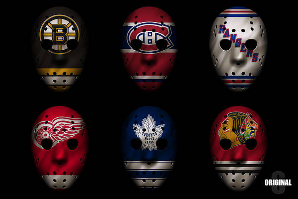 Original Six Jersey Mask Poster