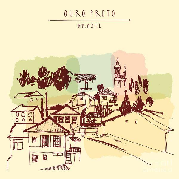Ouro Preto, Minas Gerais, Brazil Poster