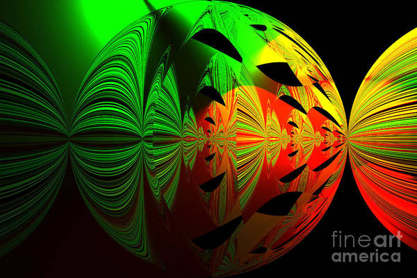 Art. Unigue Design.  Abstract Green Red And Black Poster