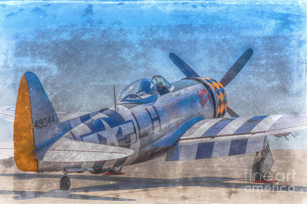 P-47 Thunderbolt Airplane Wwii Airfield Poster