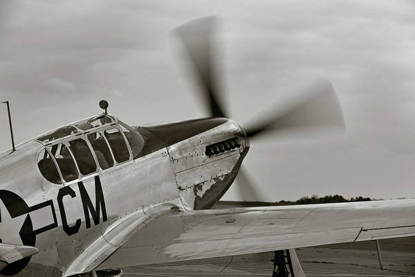 P51 Mustang Takeoff Ready Poster