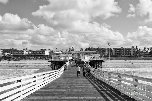 Pacific Beach From Crystal Pier Poster