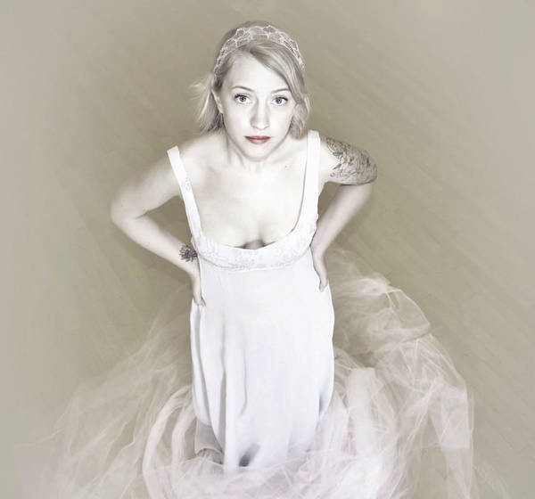 Pale Minimalist Bride Poster